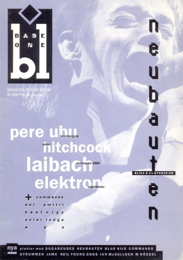 Omslaget till Base One #1989-05