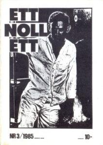 Omslaget till ettnollett #03-1985