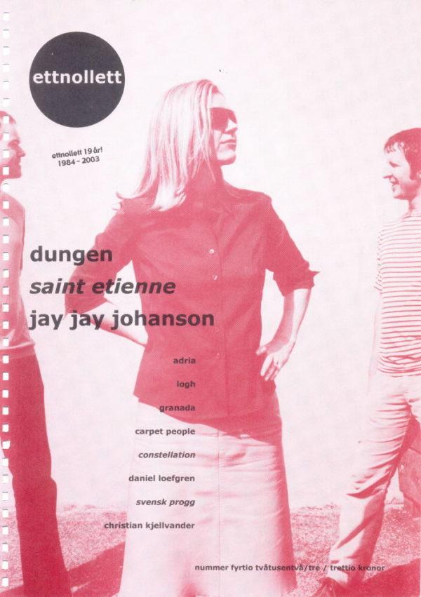 Omslaget till ettnollett #40-2003