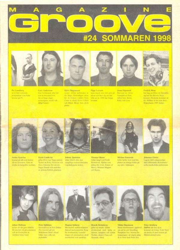 Omslaget till Groove #24-1998