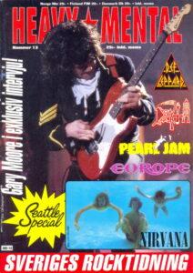 Omslaget till Heavy Mental #13 (1992)