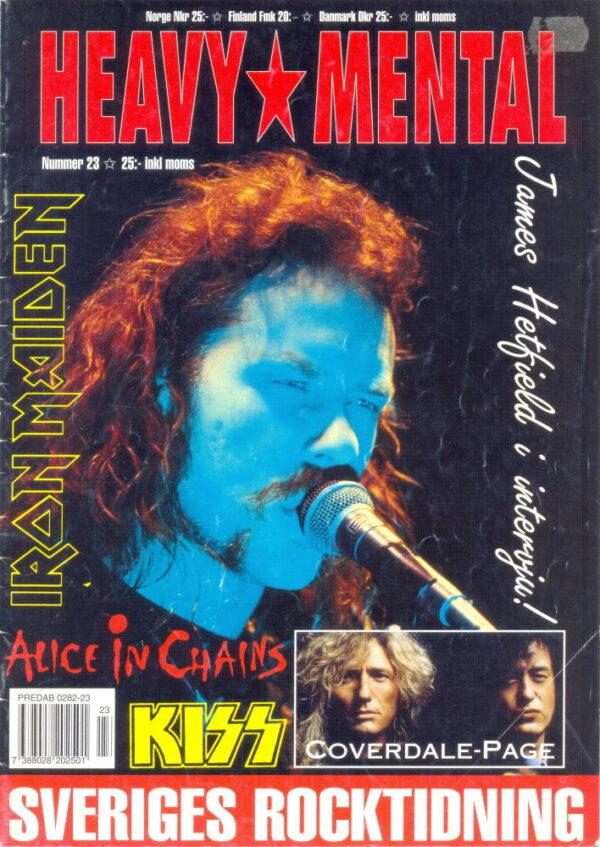 Omslaget till Heavy Mental #23 (1993)