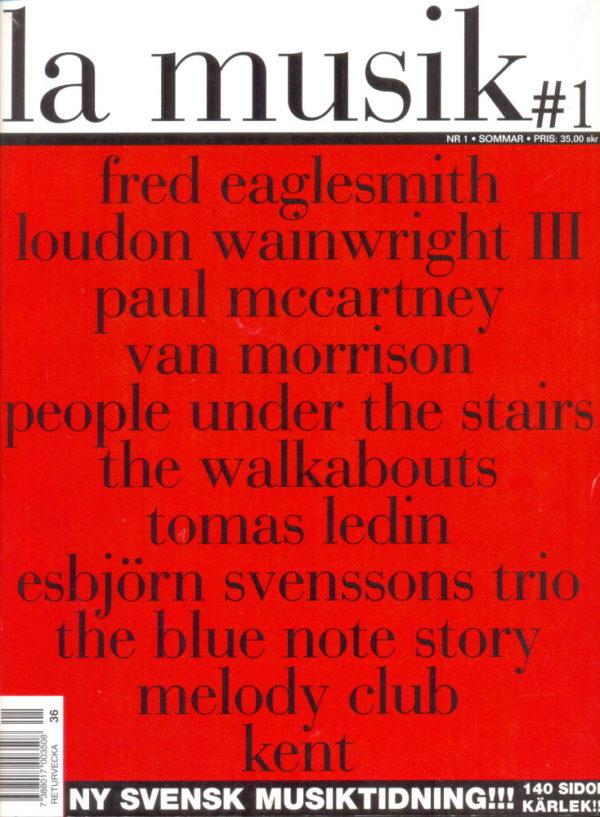 Omslaget till La Musik #01 / 2002