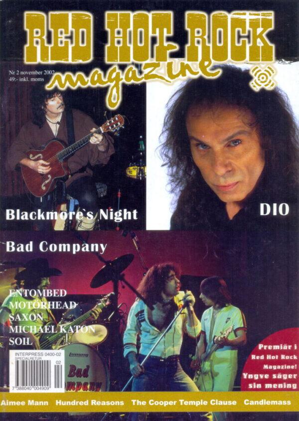 Omslaget till Red Hot Rock #02 (2002)