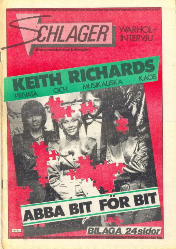 Omslaget till Schlager #006/007-1980