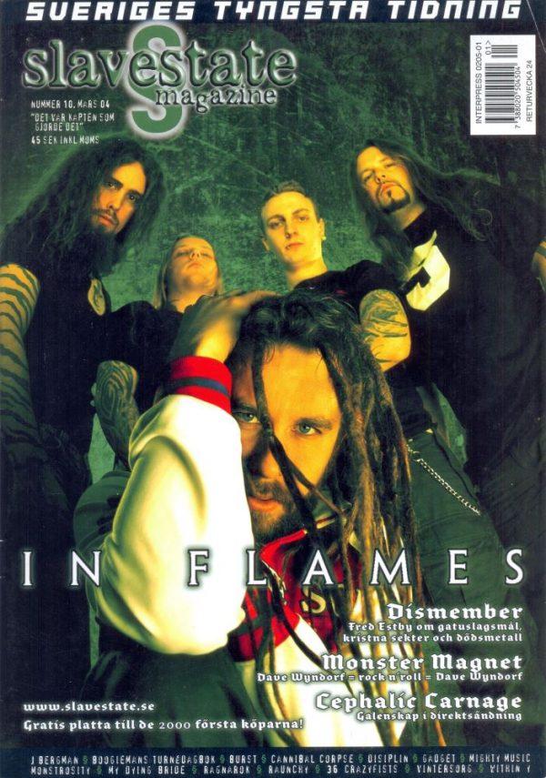 Omslaget till Slavestate #10 (2004)