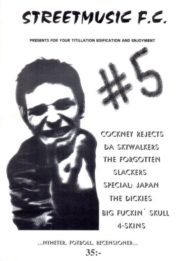 Omslaget till Streetmusic F.C. #5 (2001)