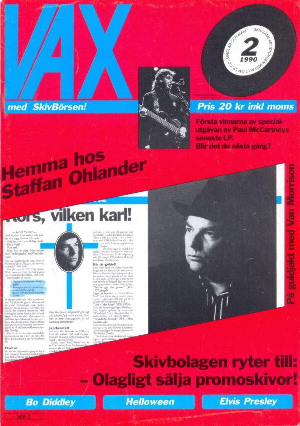 Omslaget till Vax #1990-02