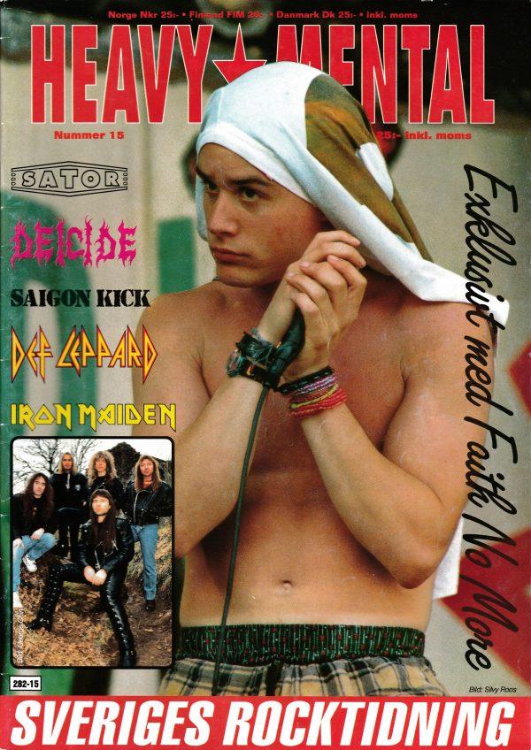 Omslaget till Heavy Mental #15 (1992)