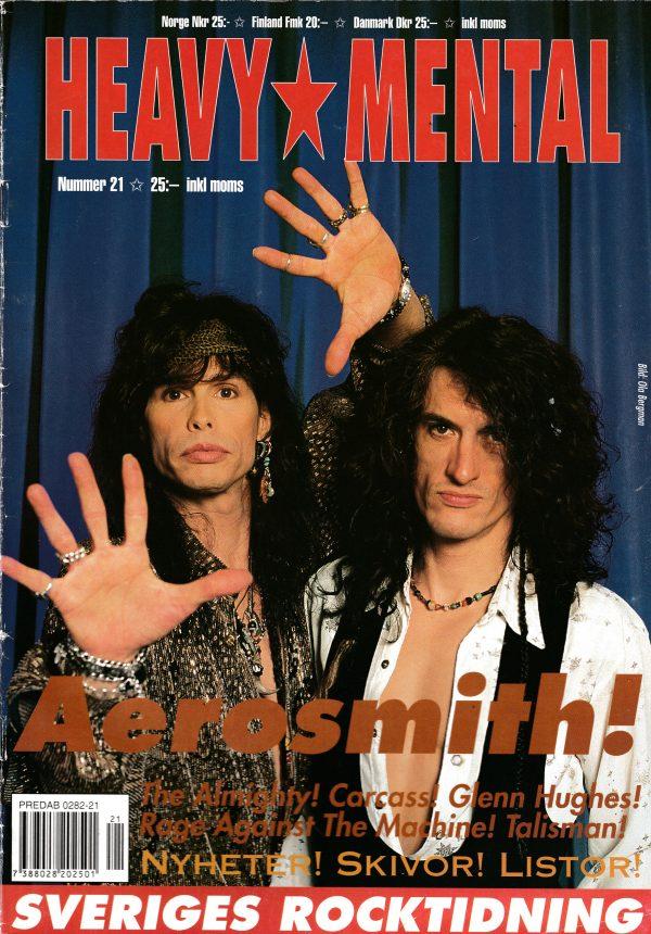 Omslaget till Heavy Mental #21 (1993)