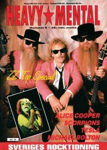 Omslaget till Heavy Mental #08 (1991)