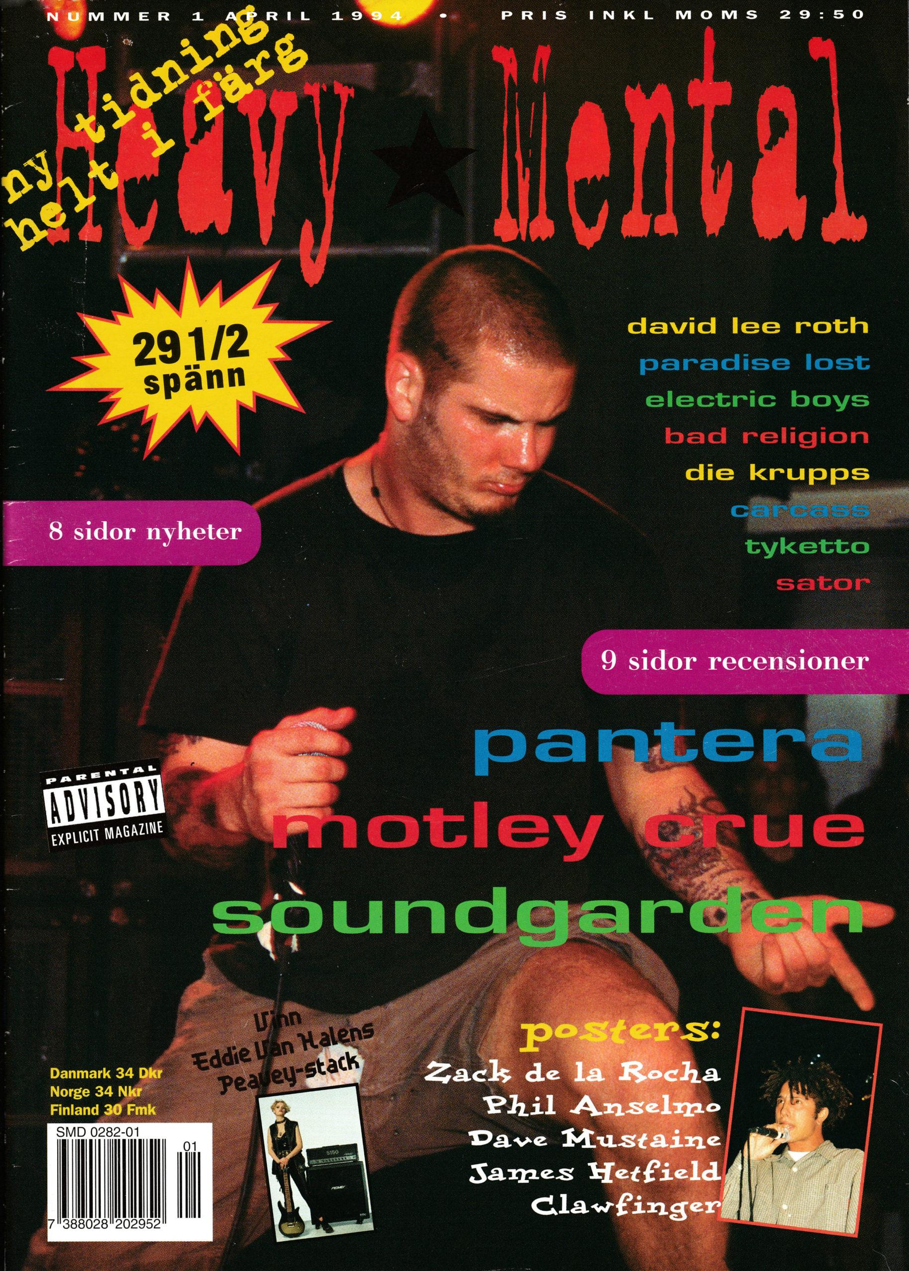 Omslaget till Heavy Mental #94-1