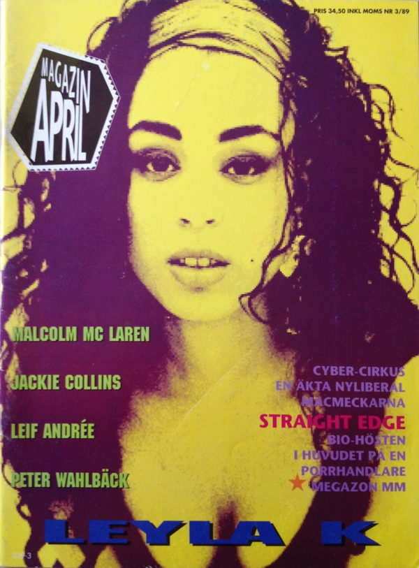 Omslaget till Magazin April #1989-03