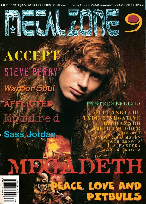 Omslaget till Metal Zone #9 (1995)