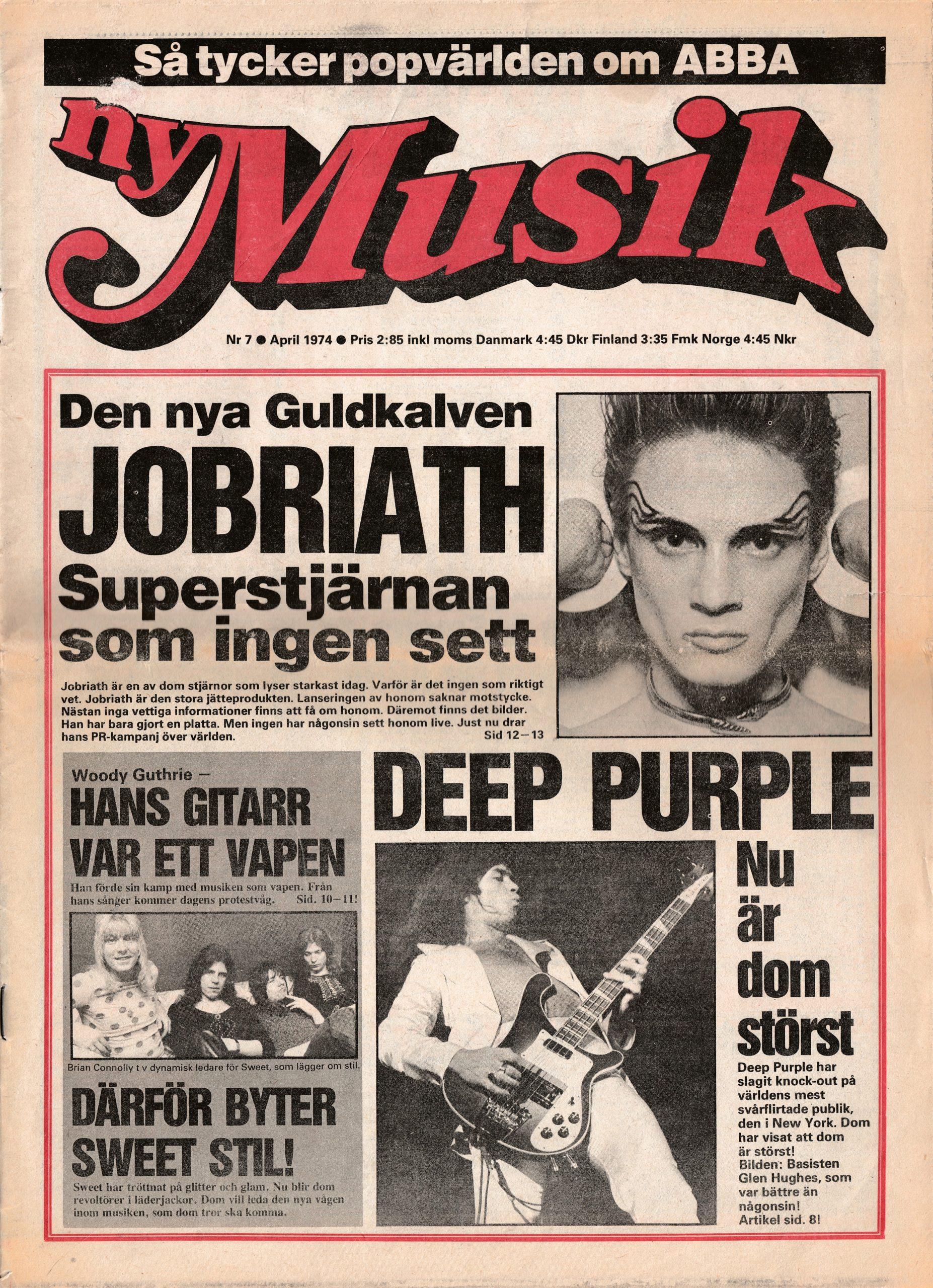 Omslaget till Ny Musik #1974-07