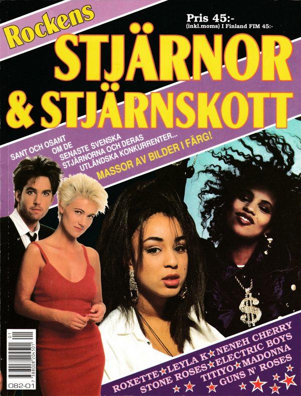 Omslaget till Artiklar Rockens Stjärnor & Stjärnskott (1990)