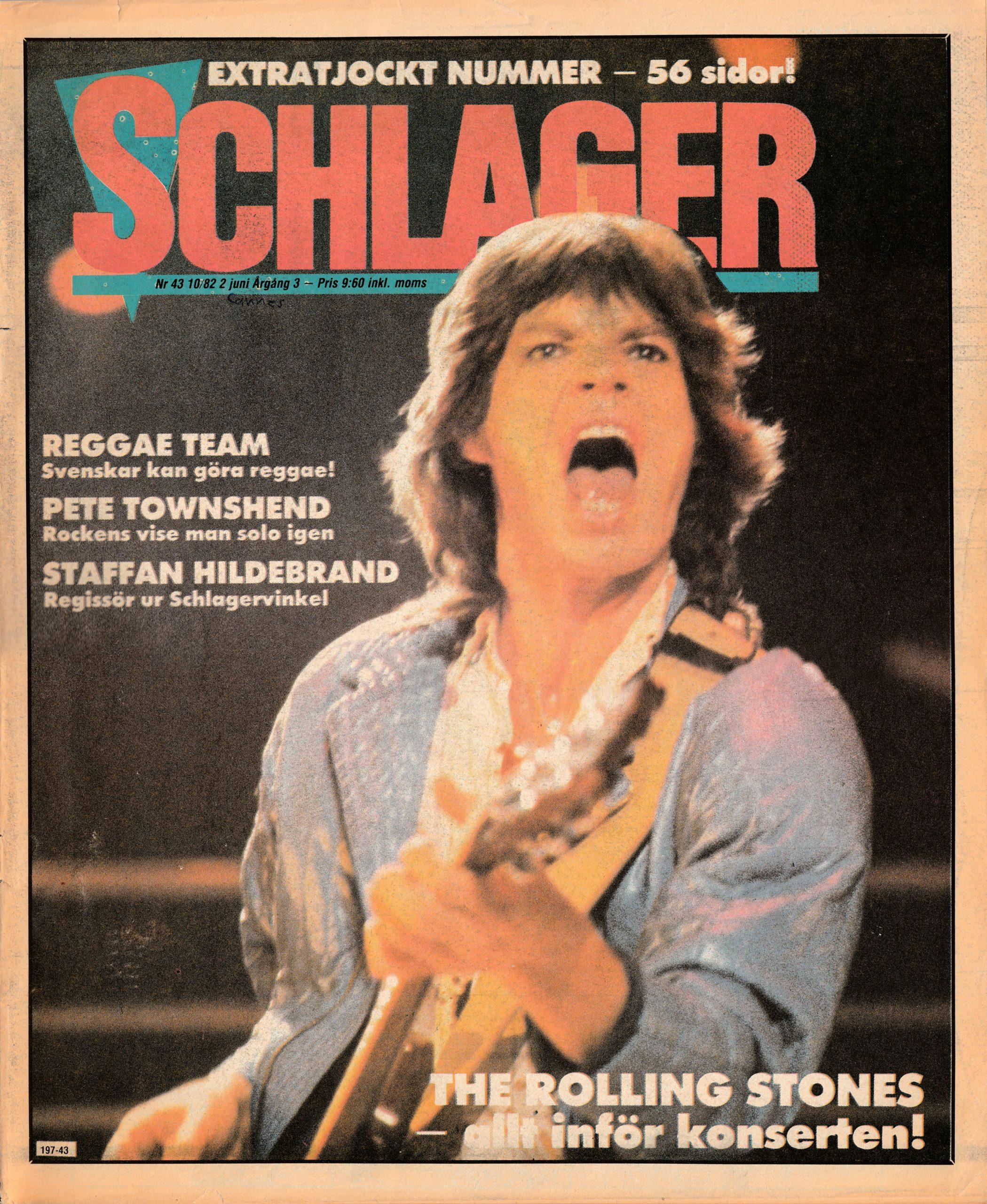 Omslaget till Schlager #043 (1982)