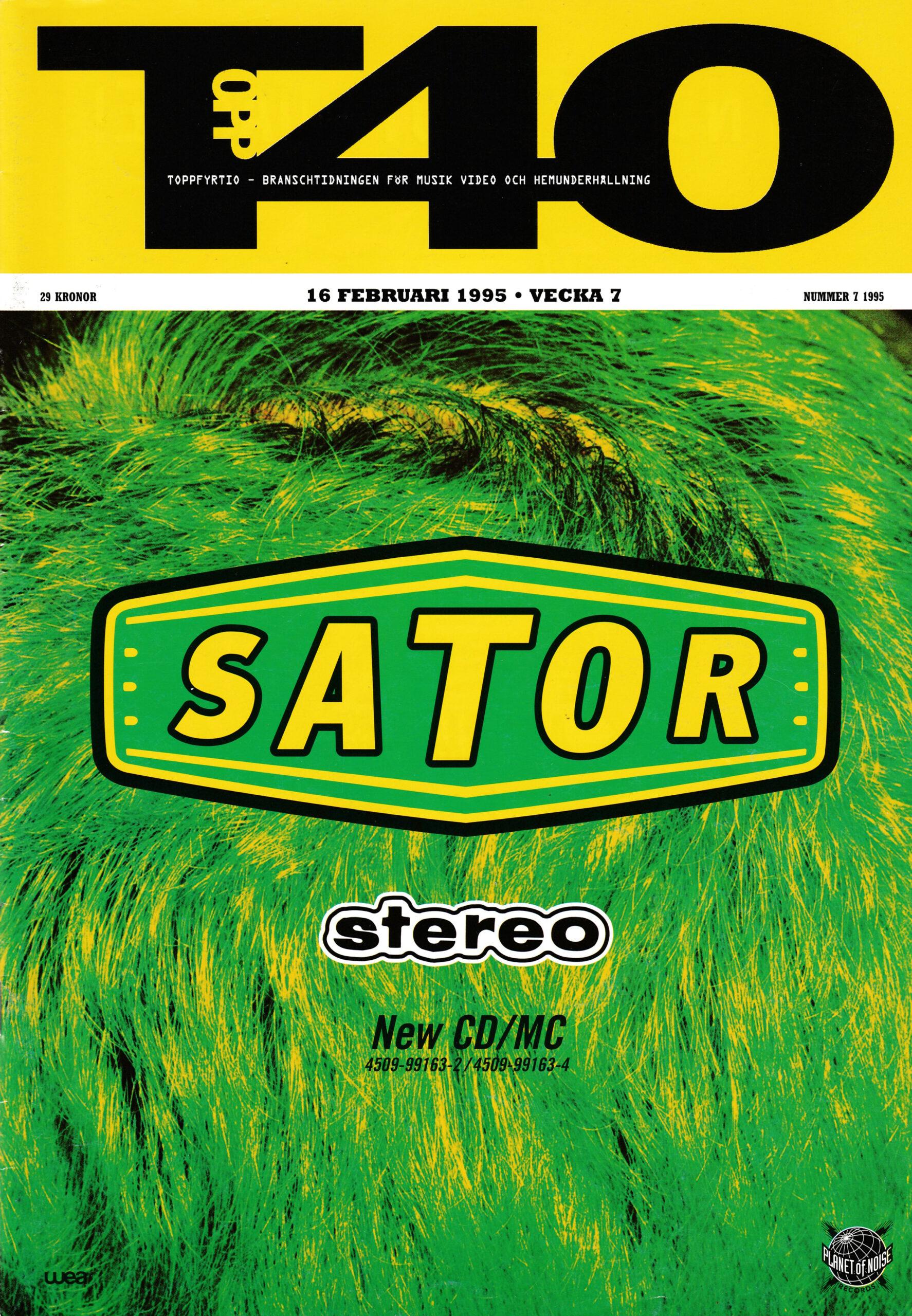 Omslaget till Topp40 #1995-07